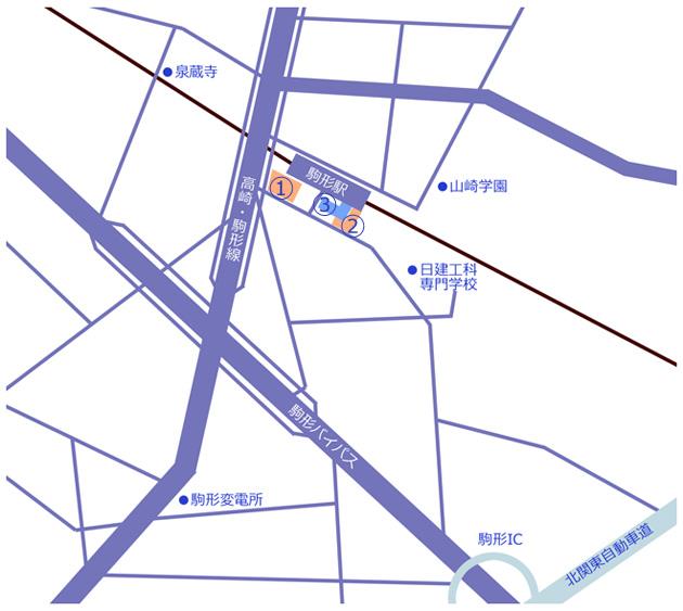 駒形駅周辺地図