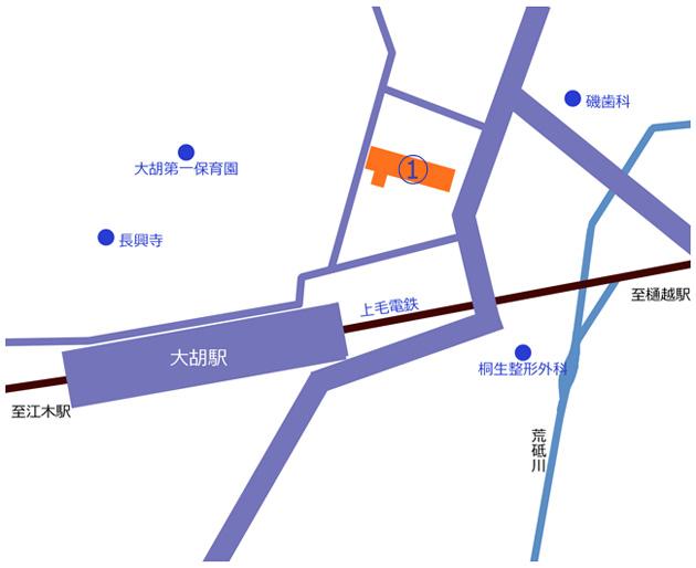 大胡駅周辺地図