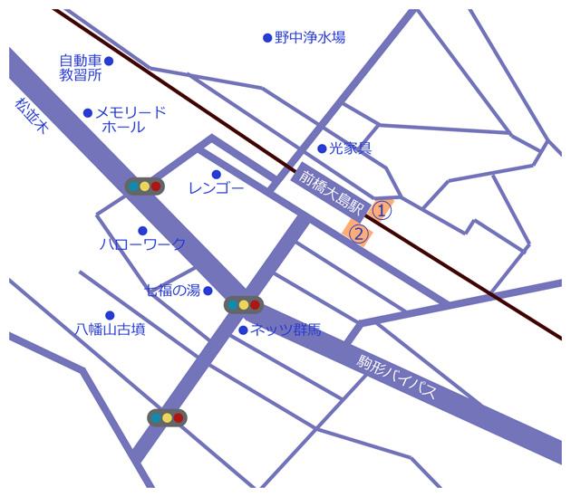 前橋大島駅地図