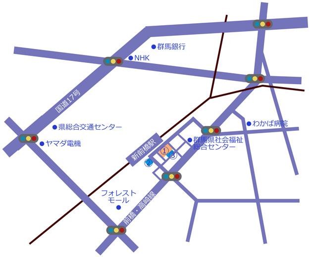 新前橋地図