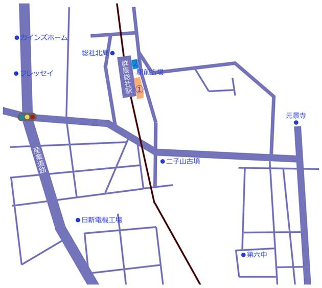 総社駅地図