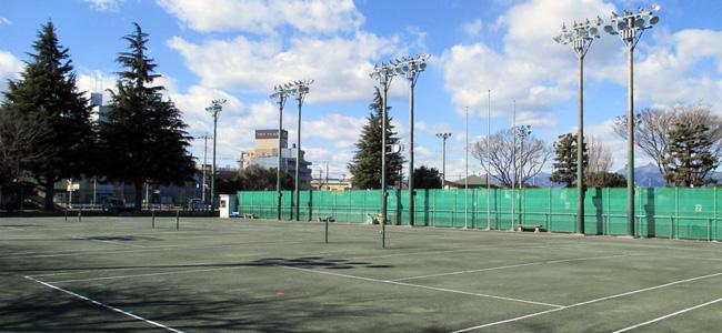 三俣テニスコートメイン風景